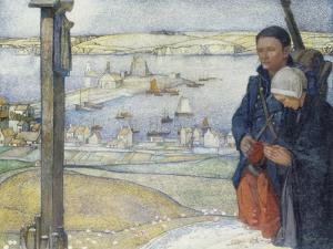 Brittany: 1914 by Edward Reginald Frampton