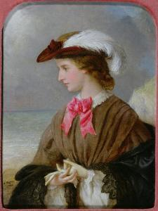 The Red Bow by Edward Robert Hughes
