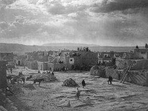 A Feast Day at Acoma by Edward S^ Curtis