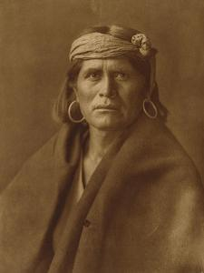A Walpi Man, Hopi, 1906 by Edward S^ Curtis