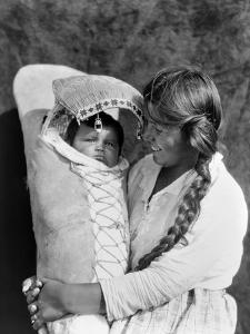 Achomawi Mother, C1923 by Edward S^ Curtis