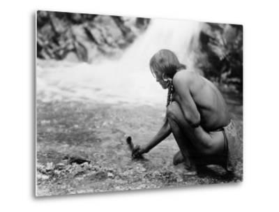 An Offering at the Waterfall, Nambe Indian