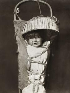 Apache Infant, C1903 by Edward S^ Curtis