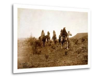 Apaches. Desert Rovers- Five Apache on Horseback in Desert, 1903