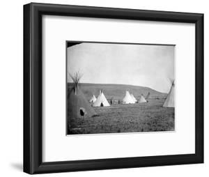 Atsina Camp Scene by Edward S^ Curtis