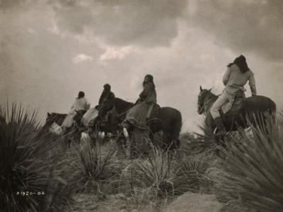 Before the Storm, Apache by Edward S^ Curtis