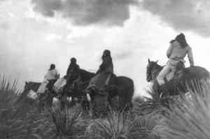 Before the Storm by Edward S^ Curtis