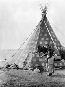 Blackfoot Tepee, c1927 by Edward S^ Curtis
