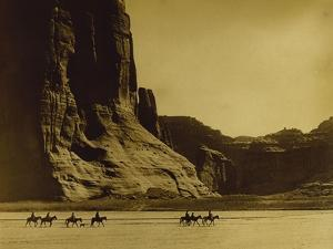 Canon De Chelly, Arizona, Navaho (Trail of Tears) by Edward S^ Curtis