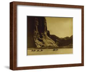Canon De Chelly, Arizona, Navaho (Trail of Tears) by Edward S Curtis