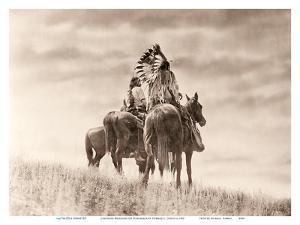 Cheyenne Warriors on Horseback - The North American Indian by Edward S. Curtis
