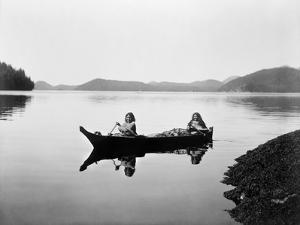 Clayoquot Canoe, c1910 by Edward S. Curtis