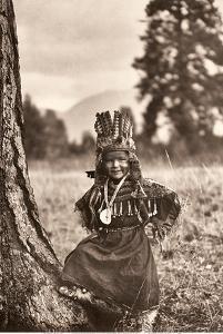 Flathead Childhood - Salish Native Boy - North American Indians by Edward S. Curtis
