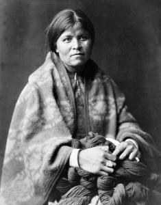 Girl in Blanket by Edward S^ Curtis