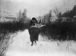 Going to Camp - Apsaroke by Edward S^ Curtis