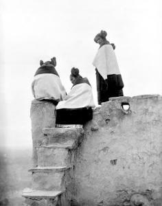 Hopi Maidens by Edward S^ Curtis