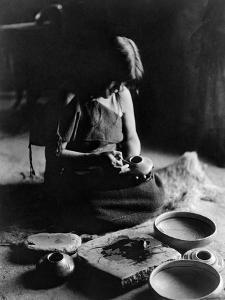 Hopi Potter, c1906 by Edward S^ Curtis