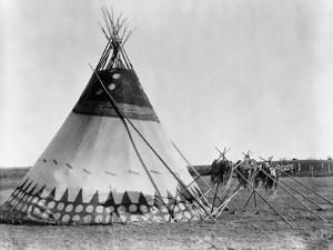 Kainai Tepee, c1927 by Edward S^ Curtis