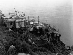 King Island Village by Edward S^ Curtis