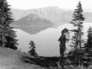 Klamath Chief, C1923 by Edward S^ Curtis