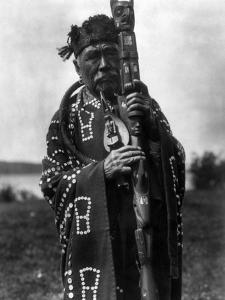 Kwakiutl Chief, C1914 by Edward S^ Curtis