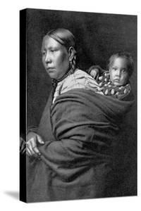 Mother and Child by Edward S^ Curtis
