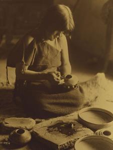 Native American Indian, the Potter (Nampeyo) Hopi by Edward S. Curtis