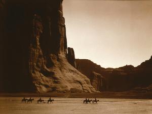 Navajos, Canyon De Chelly, c.1904 by Edward S^ Curtis