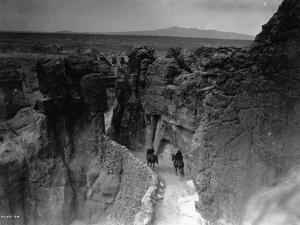 Old Trail at Acoma by Edward S^ Curtis
