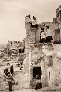 On The Housetop - Hopi Women - The North American Indian by Edward S. Curtis