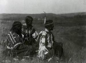 Overlooking the Camp by Edward S^ Curtis