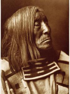 Portrait of Famous Warrior, Lone Tree-Apsroke, Born in 1828 by Edward S^ Curtis