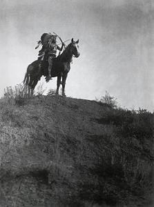 Ready for the Charge by Edward S^ Curtis