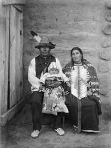 Sioux Family, C1908 by Edward S^ Curtis