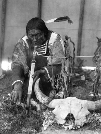 Sioux Medicine Man, c1907 by Edward S^ Curtis