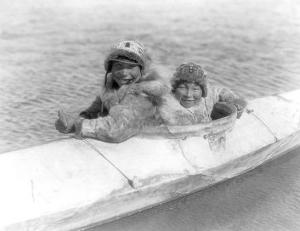 Two Children on the Water by Edward S. Curtis