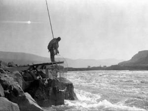 Wishham Fishing Platform by Edward S^ Curtis