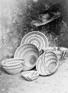 Yokuts Baskets by Edward S^ Curtis
