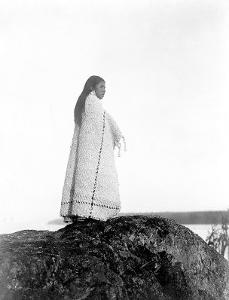 Young Cowichan Overlook by Edward S. Curtis