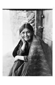 Young Girl Smiling by Edward S^ Curtis