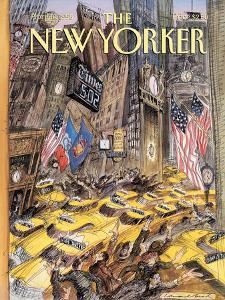 The New Yorker Cover - April 10, 1995 by Edward Sorel