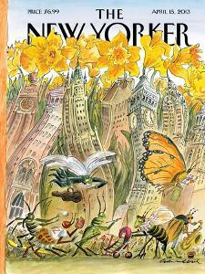 The New Yorker Cover - April 15, 2013 by Edward Sorel