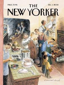 The New Yorker Cover - December 1, 2003 by Edward Sorel
