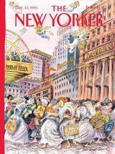 The New Yorker Cover - December 13, 1993 by Edward Sorel