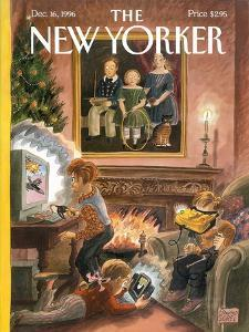 The New Yorker Cover - December 16, 1996 by Edward Sorel