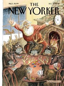 The New Yorker Cover - December 17, 2012 by Edward Sorel