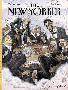 The New Yorker Cover - February 12, 1996 by Edward Sorel