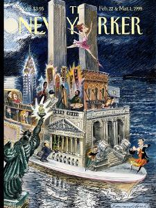 The New Yorker Cover - February 22, 1999 by Edward Sorel