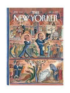 The New Yorker Cover - January 18, 1999 by Edward Sorel