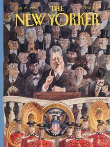 The New Yorker Cover - January 25, 1993 by Edward Sorel